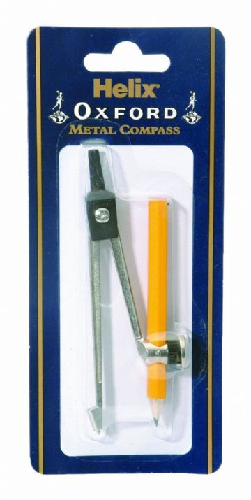 HELIX OXFORD METAL COMPASS - includes 9cm Pencil